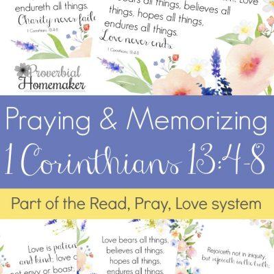 Praying and Memorizing 1 Corinthians 13:4-8