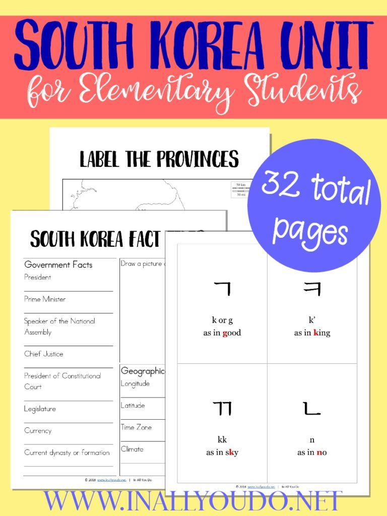 South Korea Winter Games Unit Printables