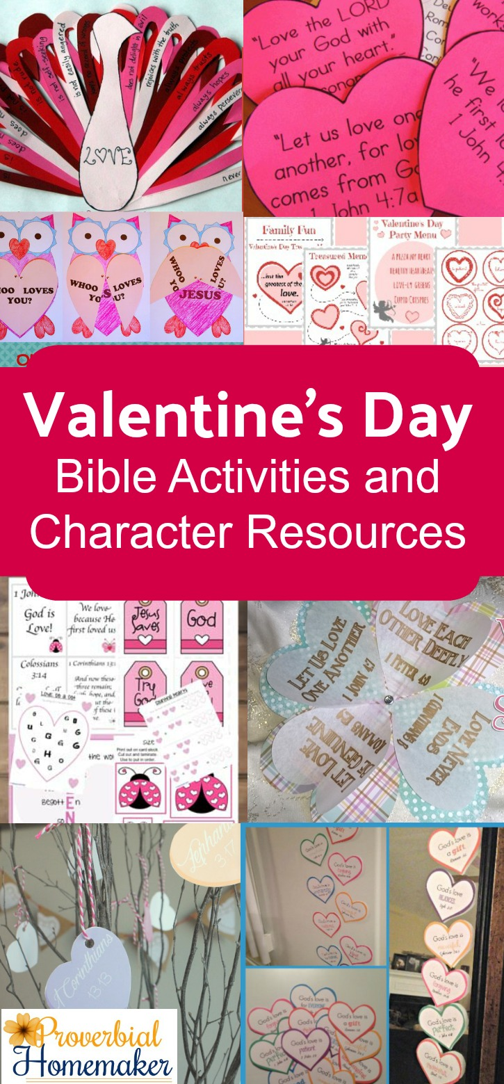 Teach your children what the Bible says about love with these Valentine's Day Bible activities and character resources!