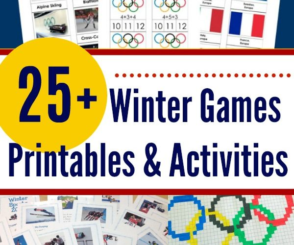 Winter Games Printables and Activities #WinterGames #printables