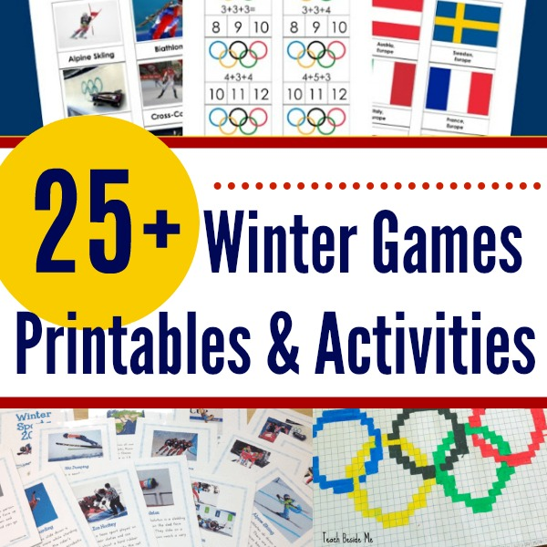 25+ Winter Games Printables and Activities