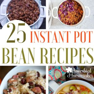 Cook delicious, frugal meals and sides with these Instant Pot bean recipes! My kids love beans and it's a great way to feed the crowd in a healthy way without breaking the bank! Perfect for holidays or lnstant Pot large family cooking.