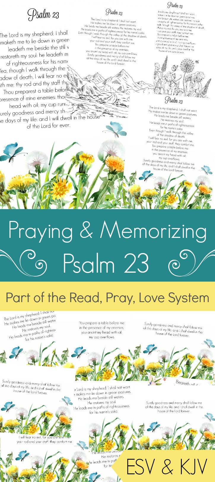 It's just a picture of Psalm 23 Printable with regard to template