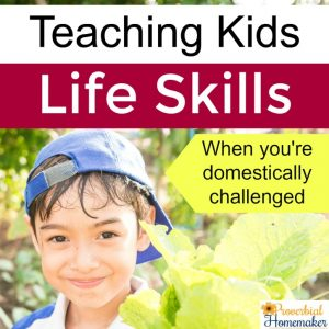 Teaching Kids Life Skills when you're domestically challenged - tips and tools to make it easy and fun!