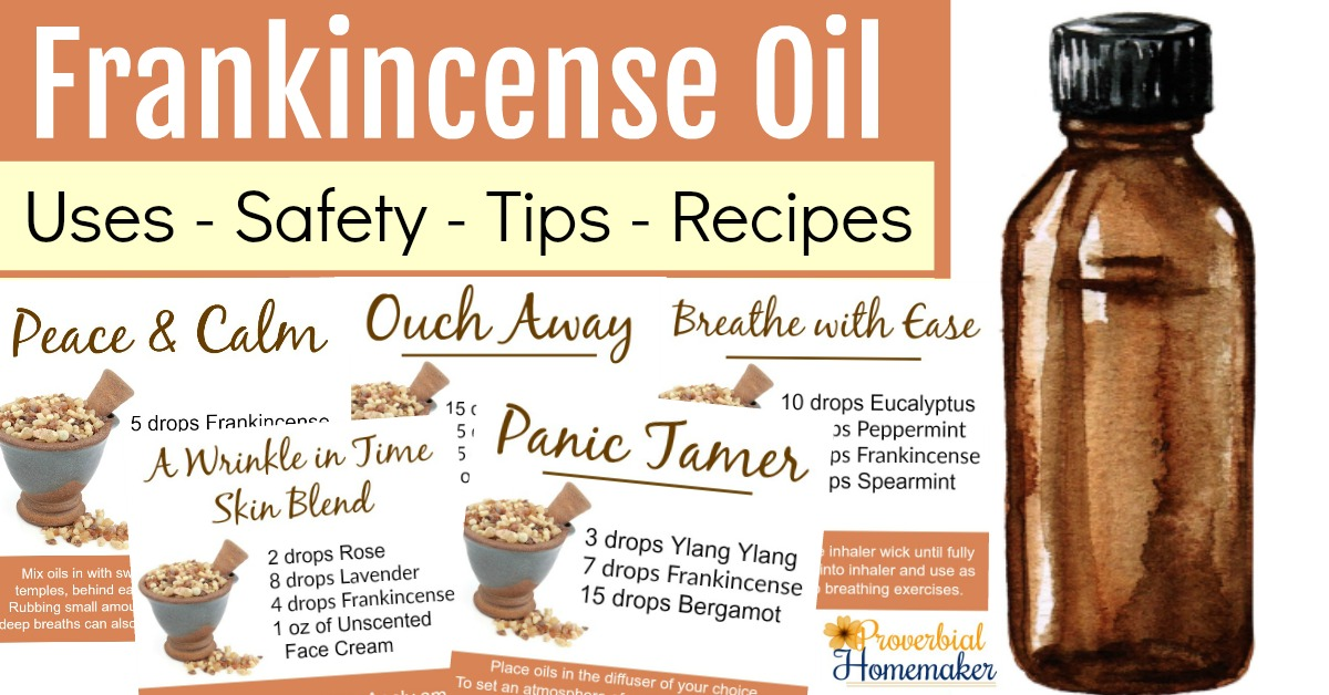 10 Best Uses for Frankincense Essential Oil - Proverbial