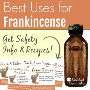 Wondering what the best uses for frankincense essential oil are? Here are the top 10 ways it can be used, plus 5 recipes to get you started, along with safety info and more!