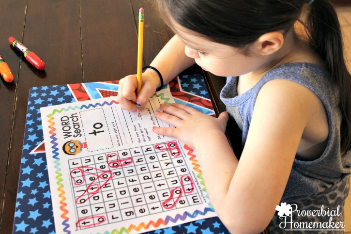 Start teaching sight words in kindergarten with The Crafty Classroom curriculum Sight Word of the Week - sight word word search