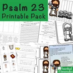 This Psalm 23 printable pack is a wonderful way to learn about such a beautiful passage! Includes learning activities, copywork, and more.