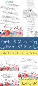 Pray and memorize psalm 139:13-18 (the fearfully and wonderfully made scriptures) with your family!åç