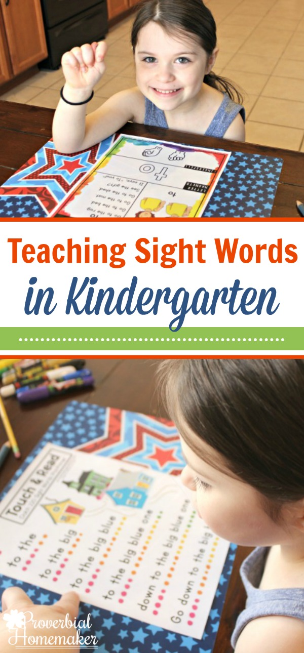 Start teaching sight words in kindergarten with this fantastic resource for homeschooling!