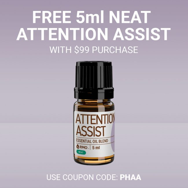 Get a $23 bottle of 5ml Neat Attention Assist FREE (which is a blend that puts Frankincense to good use) on orders over $99.00! Can be combined with other offers. Plus FREE shipping as always! CLICK HERE and use the special code at checkout.