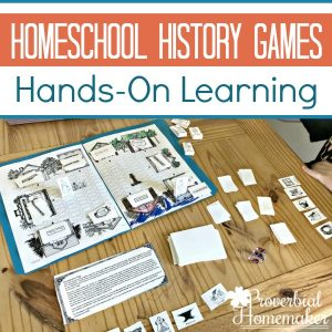 Supplement your history studies with homeschool history games and hands on learning with Homeschool in the Woods A La Carte Projects!