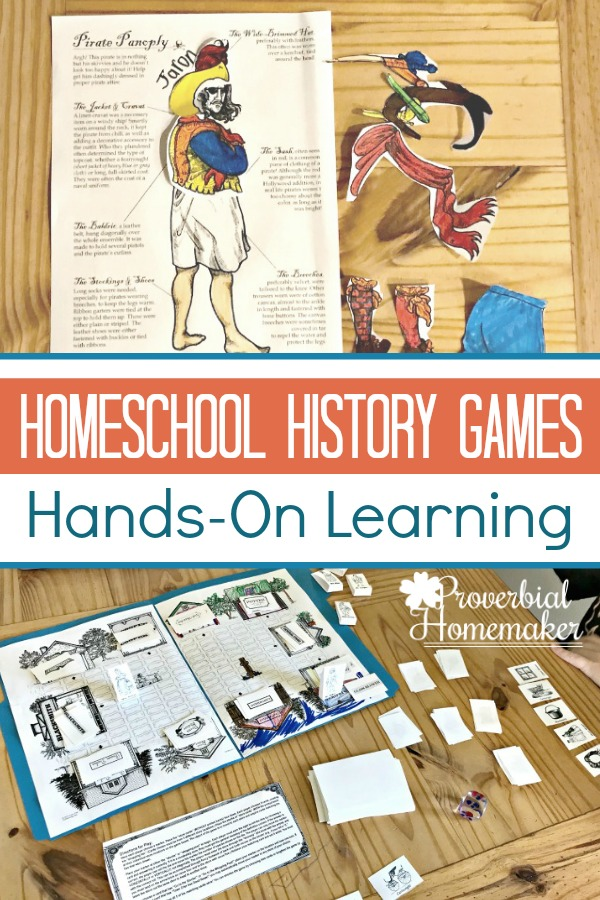 Supplement your history studies with homeschool history games and hnds on learning with Homeschool in the Woods A La Carte Projects!