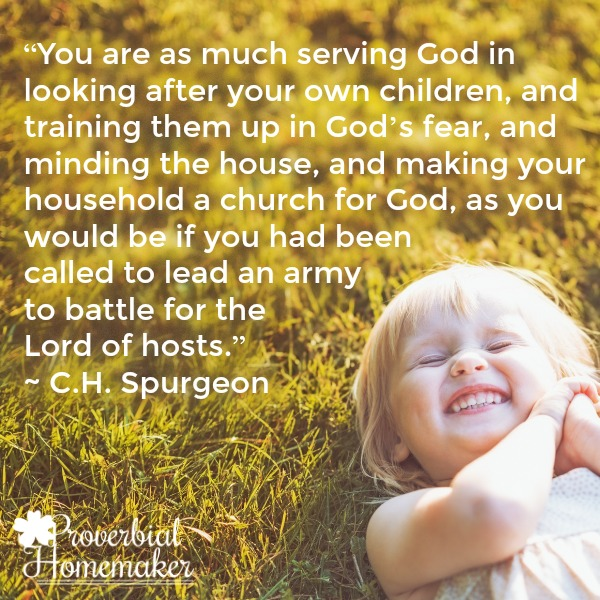 Spurgeon quote on motherhood and Christian Moms