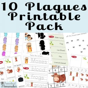 Teach your kids about the hardened heart of Pharaoh as well as the might and power of God with this Ten Plagues printable! It includes memory work, games, copywork, and more!
