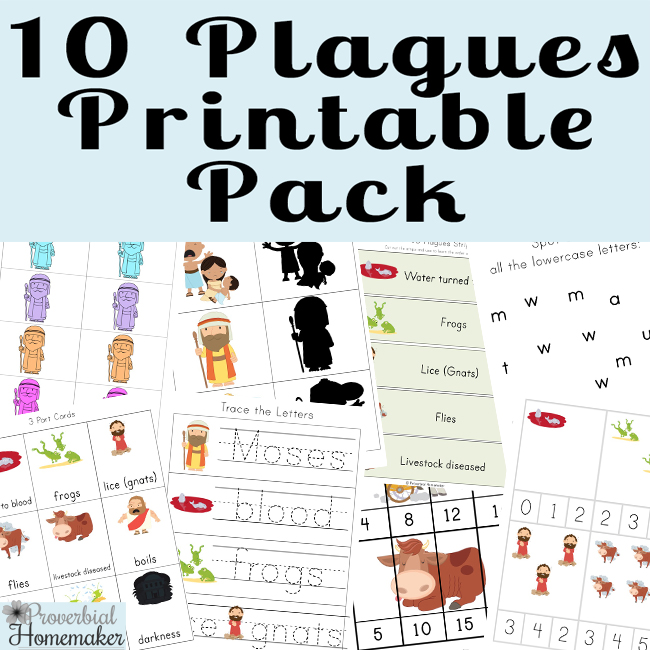 graphic relating to 10 Plagues Printable called The 10 Plagues Printable Pack - Proverbial Homemaker