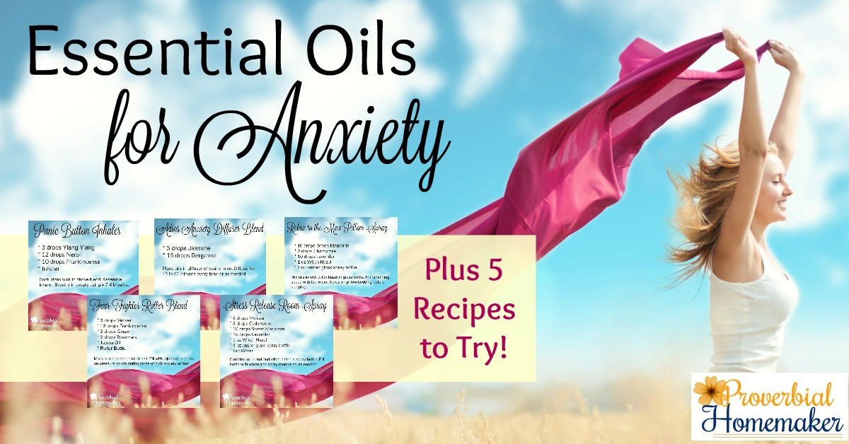 Struggling with anxiety? Check out the 14 best essential oils for anxiety, including 5 handy anxiety essential oil recipes!