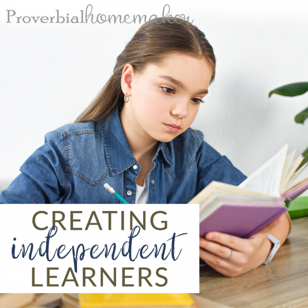 As a homeschool family one of the greatest things we can do is to encourage independent learning. Here are some tips on creating independent learners.