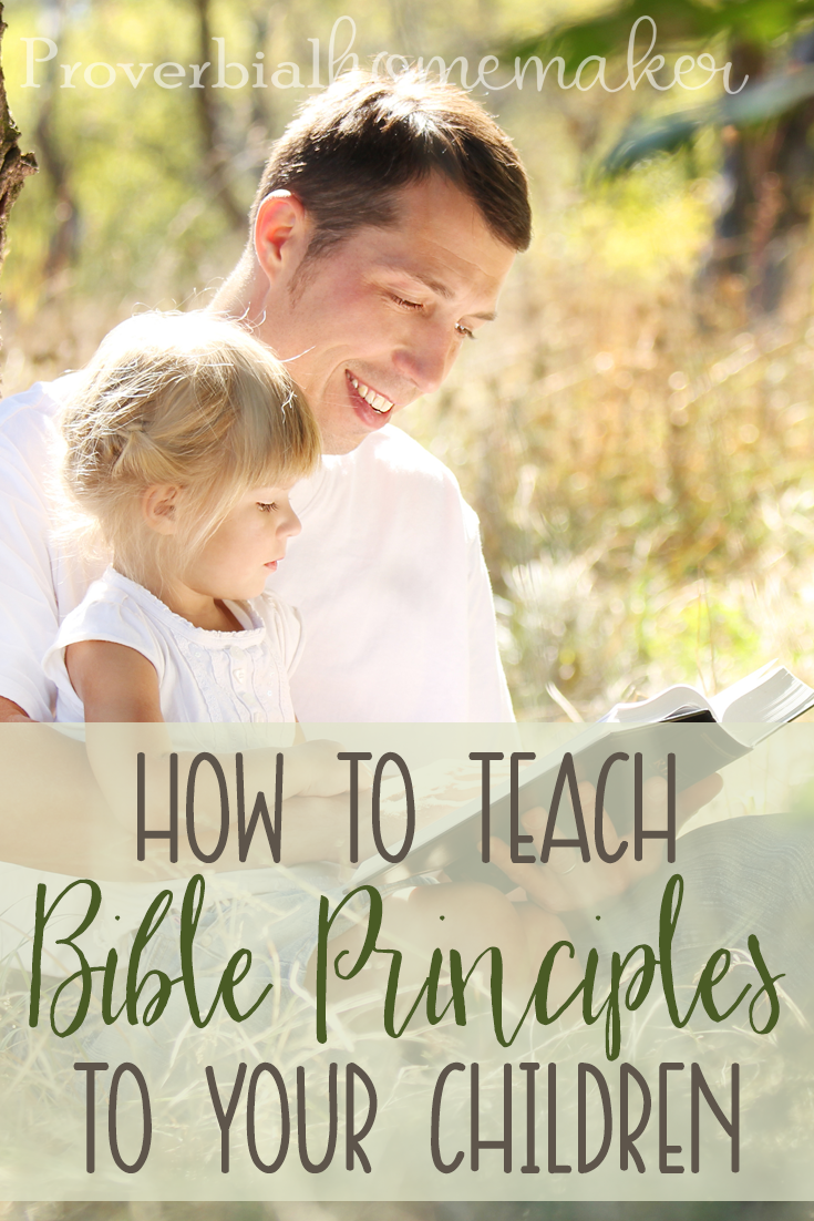If you are struggling on ways to teach Bible principles to your children, these tips and ideas will help!