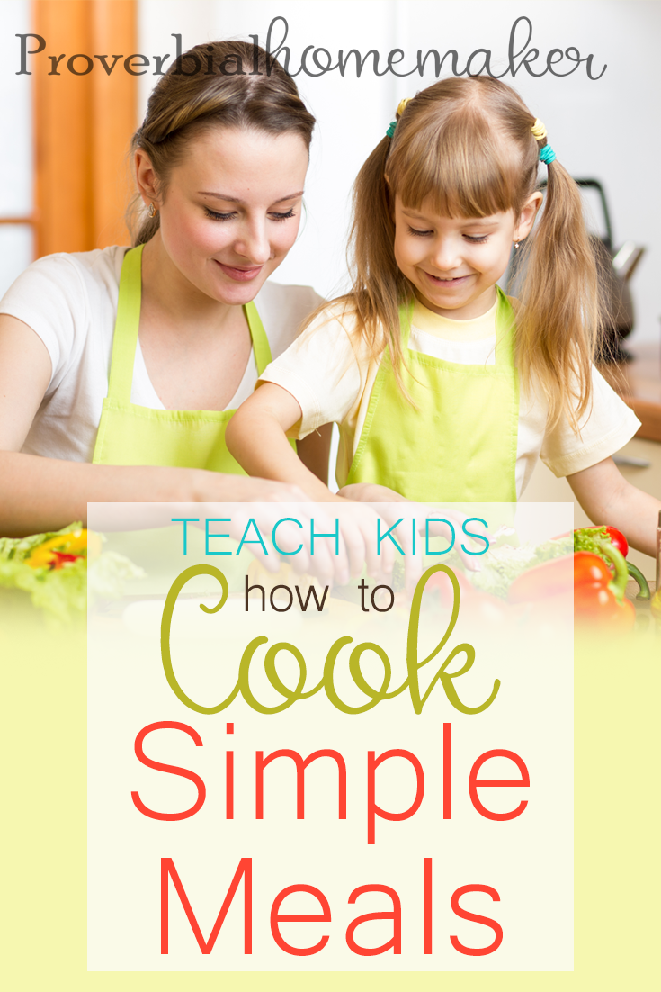 Children need to know how to cook. However, this seems to be a very scary task for many. Here are some tips to help you teach kids to cook simple meals!
