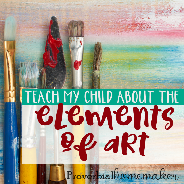 If teaching your child about the elements of art is a bit scary to you then you are going to want to see these helpful tips and ideas!