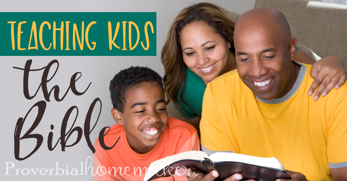 Teaching Your Kids the Bible - such an important topic! Find out the why and how with some tips to help.