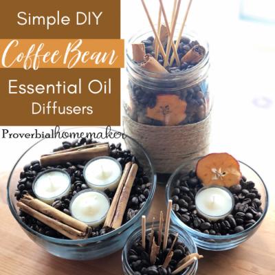 Simple DIY Essential Oil Diffusers Using Coffee