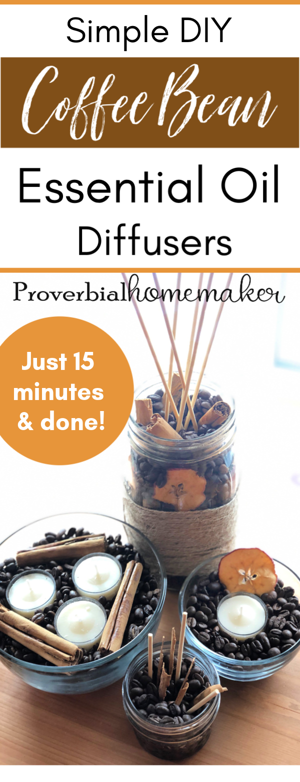 Simple Diy Essential Oil Diffusers Using Coffee Proverbial Homemaker
