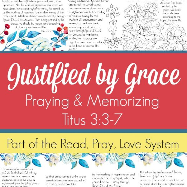 Pray and begin memorizing Titus3:3-7 together as a family,. These beautiful scripture art prints, memory verse cards, coloring pages, and prayer prompts are a wonderful way to get started. Part of the Proverbial Homemaker Read, Pray, Love system.
