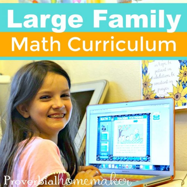 Looking for a large family math curriculum solution? We're using Teaching Textbooks online and love it! Teaching Textbooks 3.0 comes with some fantastic features. Check out our candid review. #homeschool #homeschoolcurriculum #teachingtextbooks #largefamily #largefamilyhomeschool