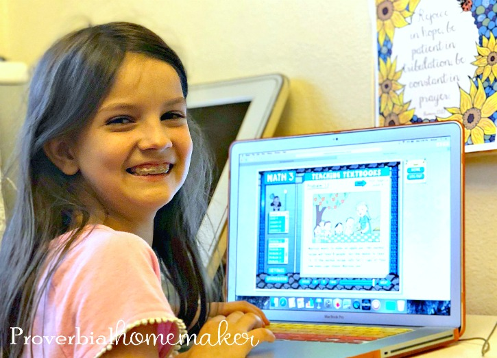 Large Family Homeschool Math Solution: Teaching Texbooks Online!