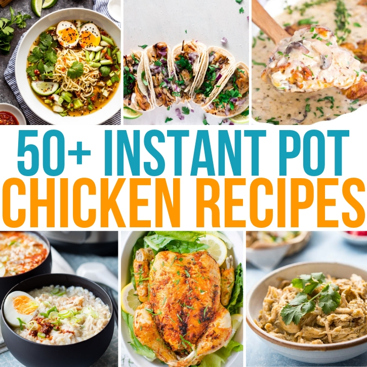 Looking for a simple and quick dinner? Fill out your meal plan with selections from these 50+ easy instant pot chicken recipes!