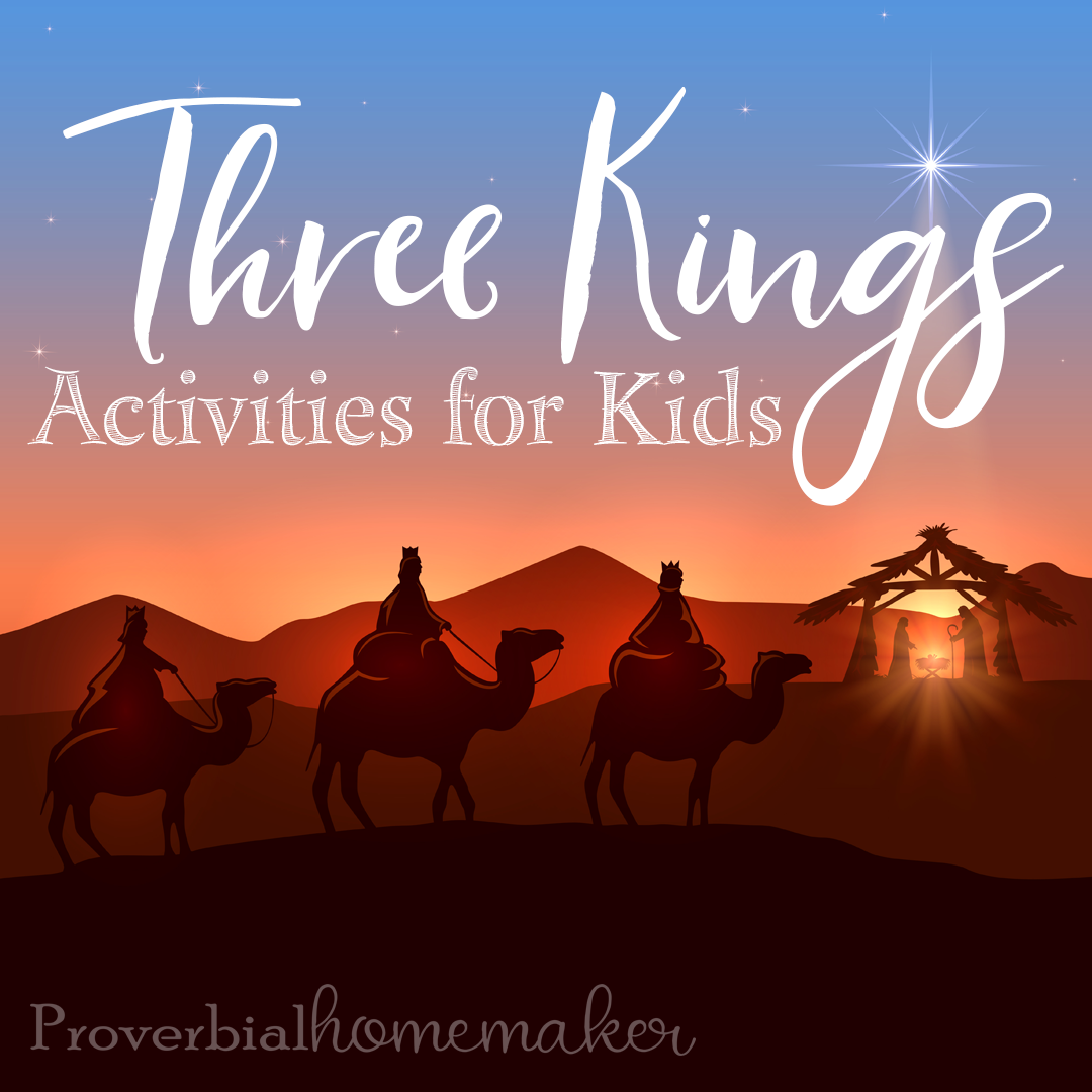 Check out this roundup of Three Kings activities for kids! Such a fun way to explore the Christmas story.