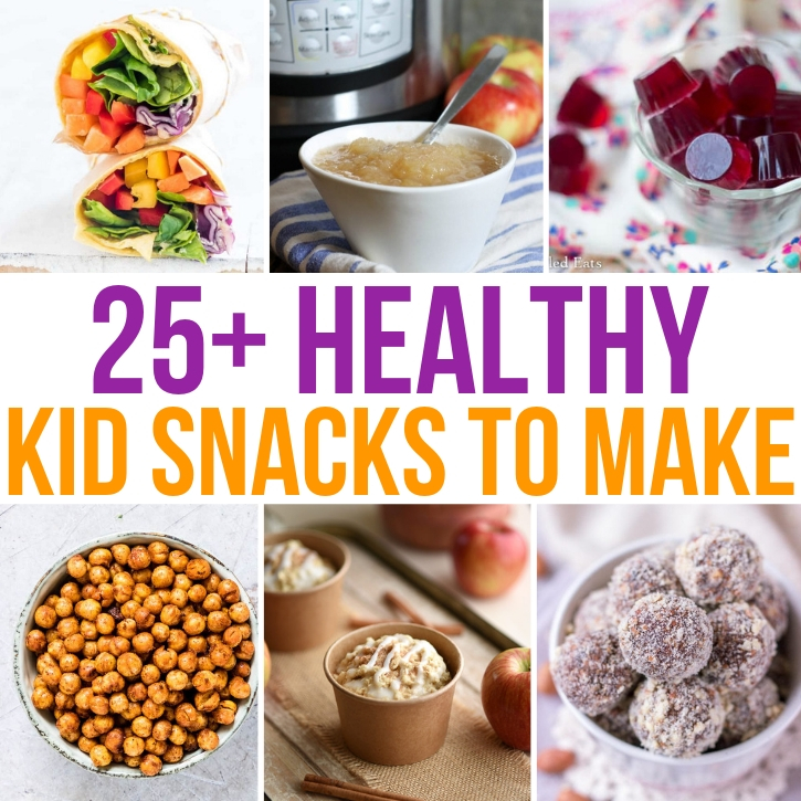 Someone always telling you they're hungry? I can relate! Keep them full and fueled with these fantastic healthy snacks for kids! #healthysnacks #healthyrecipes #healthykids