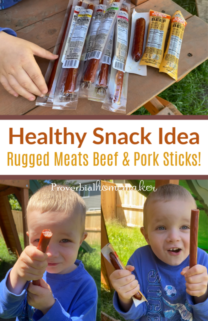 Rugged meats healthy snack idea - healthy beef sticks and pork sticks