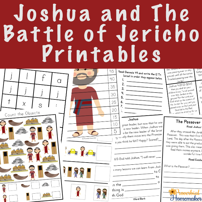 Teach your kids about trusting God with the Bible story Joshua and the Battle of Jericho printable pack! Great learning activities for ages 2-9.