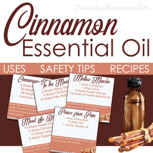 Best uses for Cinnamon essential oil including safety information, recipes, and more!