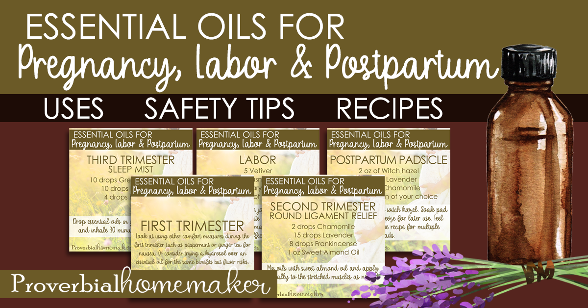 Find out the best essential oils for pregnancy as well as safety issues to be aware of. There's also a list of essential oils for labor and postpartum!