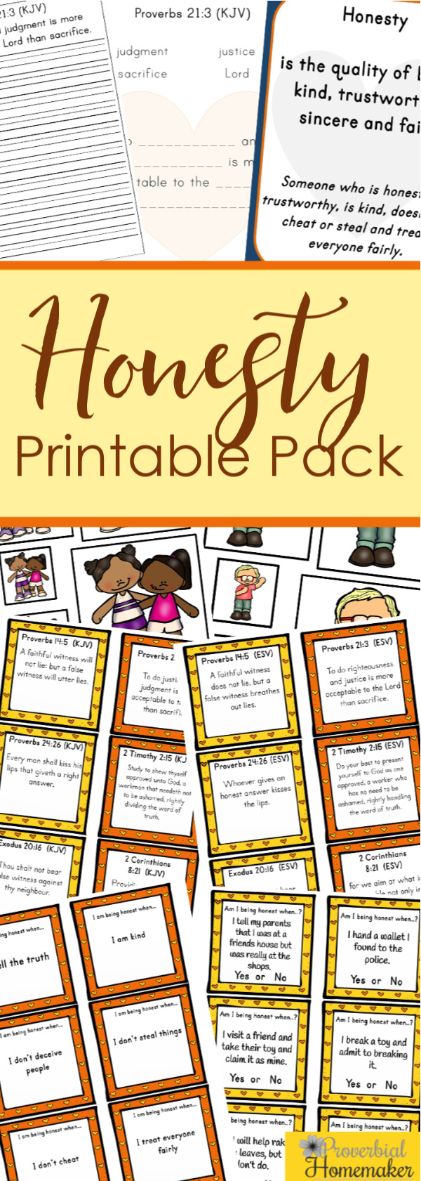 Download the Honesty Printable Pack to teach kids honesty with these biblical activities and stories! Includes scripture, writing/discussion prompts, puzzles, and more!