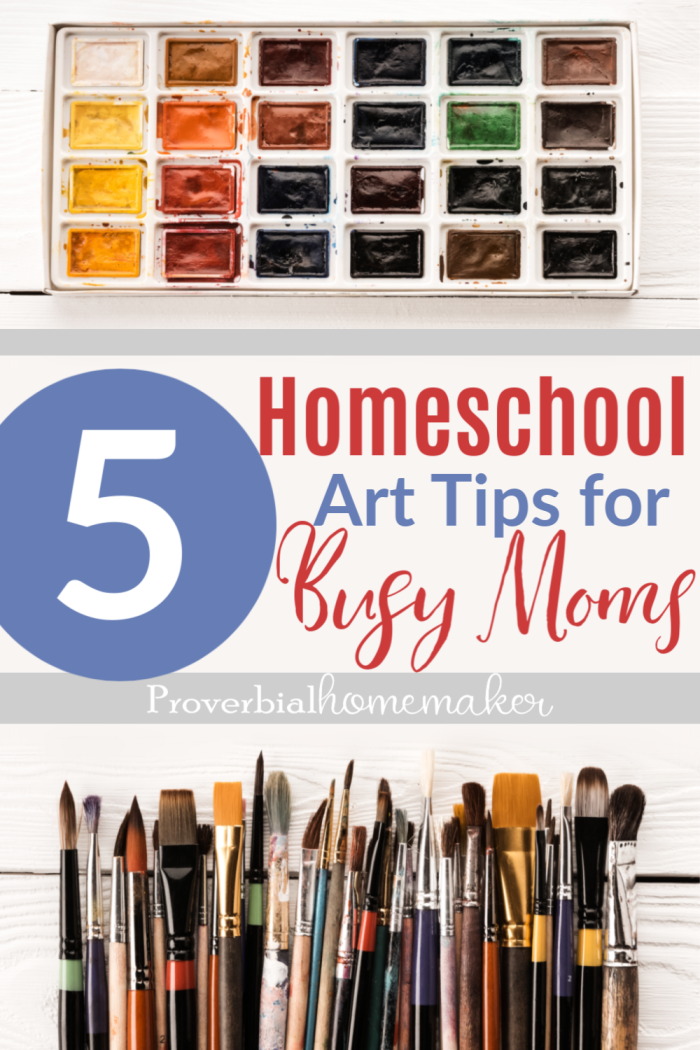Struggling to fit art into your homeschool routines? Here are 5 homeschool art tips for busy moms you don't want to miss!