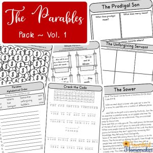 Teach your children the parables of Jesus with this fun 50+ page Parables for Kids printable pack! Includes acitivies and lessons for 12 parables.