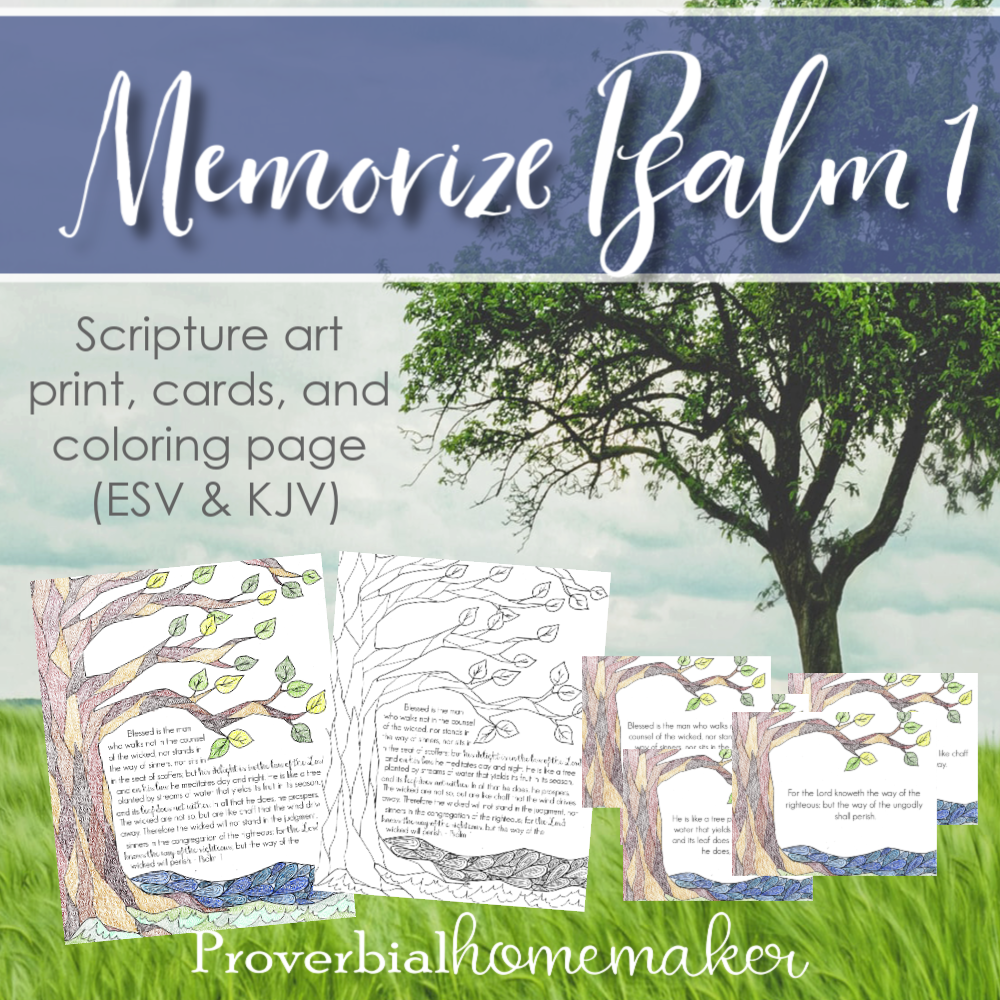 Psalm 1 Scripture printable SQ