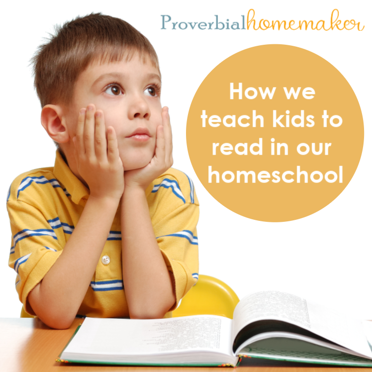 How we teach kids to read in our homeschool from a busy homeschool mom of 6! Includes homeschool reading curriculum recommendations and more.