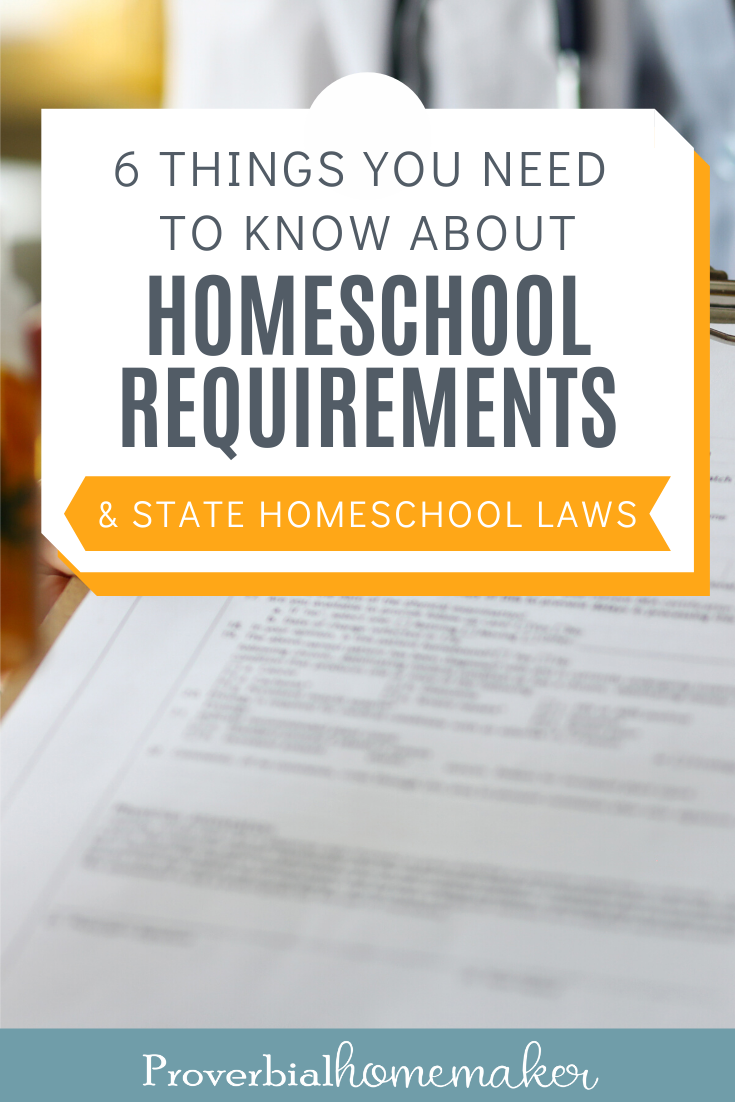 It's important that you are familiar with your homeschool requirements and state laws. Find out 6 things you need to know before you start homeschooling!