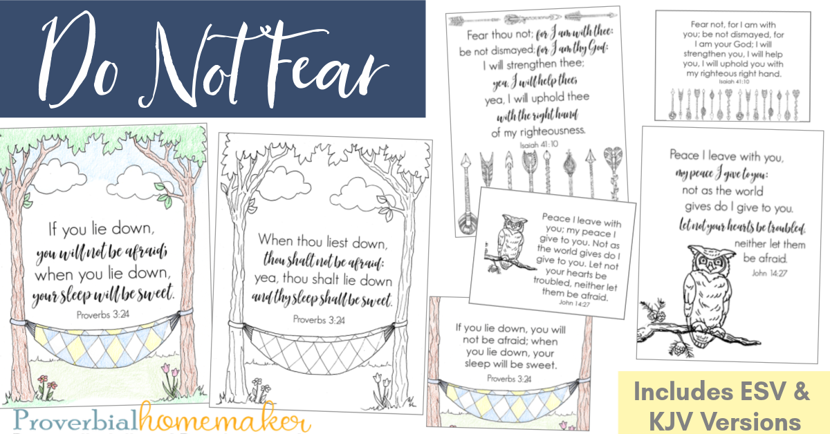 Is your child afraid? Help your child with fear with these tips and Scripture about fear. Includes a do not fear Scripture printable pack!