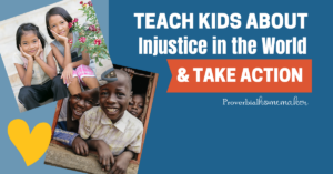 Teach kids about injustice in the world and take action! Check out these helpful discussion tips, Christ-centered resources, and more.