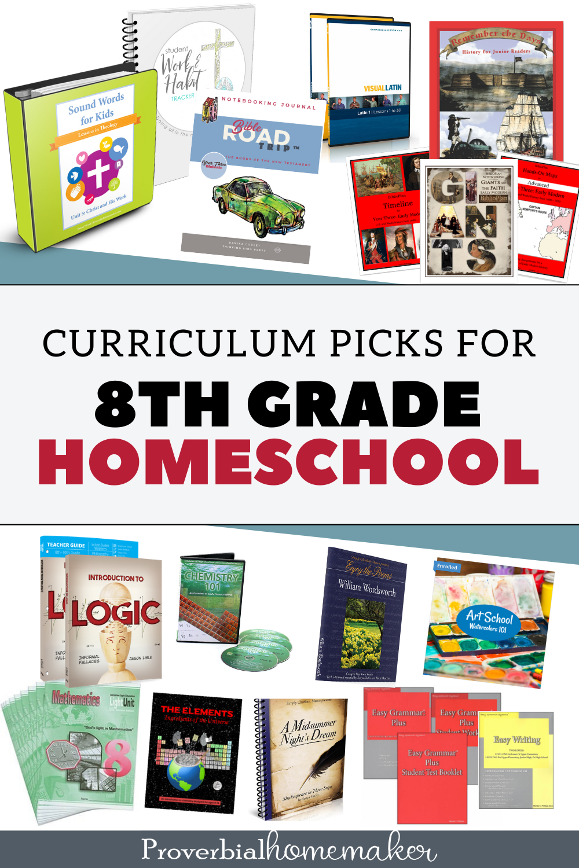 Our top 8th grade homeschool curriculum picks