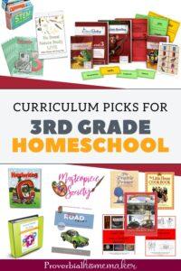 3rd grade homeschool curriculum picks
