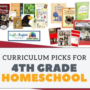Our top 4th grade homeschool curriculum picks!