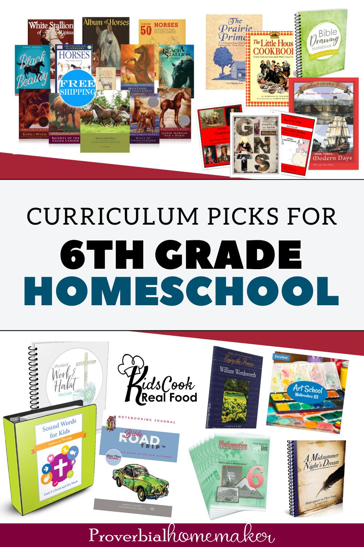 6th grade homeschool curriculum choices